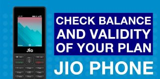 How to check Jio balance