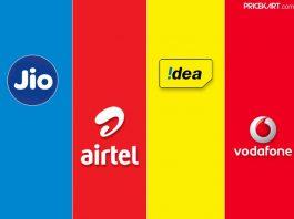 Airtel vs Jio Vs Vodafone- Idea