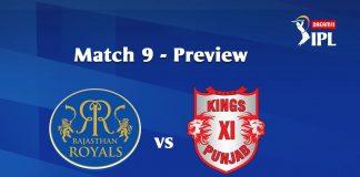 RR VS KXIP Dream 11 Prediction